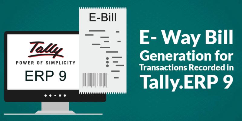 E Way bill generation for transactions